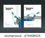 brochure cover design layout... | Shutterstock .eps vector #674408425
