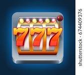 casino vector smartphone game... | Shutterstock .eps vector #674409376