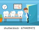 healthy mouth vector kids... | Shutterstock .eps vector #674409472