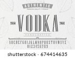 font.alphabet.script.typeface... | Shutterstock .eps vector #674414635