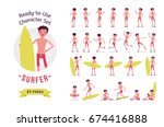 ready to use character set.... | Shutterstock .eps vector #674416888