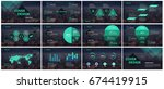 green and black elements... | Shutterstock .eps vector #674419915