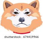 dog of akita breed | Shutterstock .eps vector #674419966