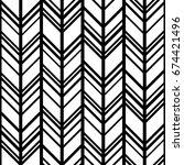 black and white chevron... | Shutterstock .eps vector #674421496