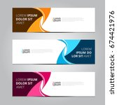 vector abstract design banner... | Shutterstock .eps vector #674421976