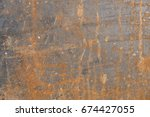 old dirty rusty galvanized iron ... | Shutterstock . vector #674427055