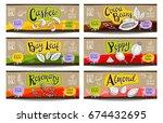set of colorful labels sketch...   Shutterstock .eps vector #674432695