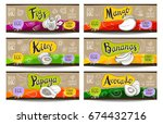 set of colorful labels sketch... | Shutterstock .eps vector #674432716