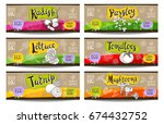 set of colorful labels sketch... | Shutterstock .eps vector #674432752