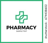 medical pharmacy logo design... | Shutterstock .eps vector #674438602