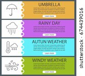 autumn weather web banner... | Shutterstock .eps vector #674439016