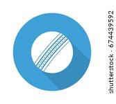 cricket ball flat design long... | Shutterstock .eps vector #674439592