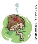 illustration featuring a dead... | Shutterstock .eps vector #674448472