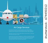 flyer air cargo services and... | Shutterstock .eps vector #674450212