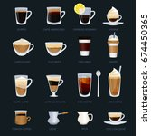 mugs with different type of... | Shutterstock .eps vector #674450365