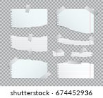 torn copybook sheets with... | Shutterstock .eps vector #674452936