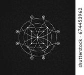 sacred geometry. vector... | Shutterstock .eps vector #674453962