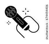 microphone icon | Shutterstock .eps vector #674454406