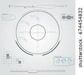 digital radar screen....   Shutterstock .eps vector #674454832