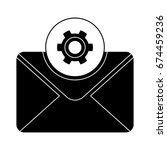 email setup icon | Shutterstock .eps vector #674459236