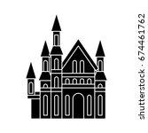 castle icon | Shutterstock .eps vector #674461762