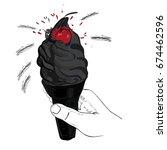 vector illustration of black... | Shutterstock .eps vector #674462596