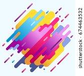 neon designretro 80s media... | Shutterstock . vector #674463532