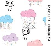 seamless pattern for girls and... | Shutterstock .eps vector #674465605
