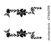 vector floral material on white ... | Shutterstock .eps vector #67446598