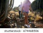 fit and healthy young girl... | Shutterstock . vector #674468506