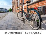bruges  brugge  cityscape with... | Shutterstock . vector #674472652