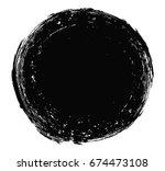 vector grunge circle.grunge... | Shutterstock .eps vector #674473108