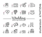 template design wedding... | Shutterstock .eps vector #674473546