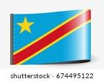 a flag illustration on a... | Shutterstock . vector #674495122