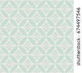 abstract geometric pattern in... | Shutterstock .eps vector #674497546