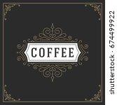 ornament logo design template... | Shutterstock .eps vector #674499922