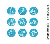 outdoor activities and sports... | Shutterstock .eps vector #674500876