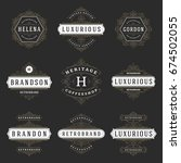 luxury logos templates set ... | Shutterstock .eps vector #674502055