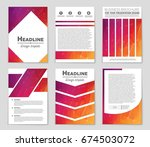 abstract vector layout... | Shutterstock .eps vector #674503072