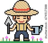 Vector Pixel Art Cartoon...
