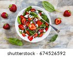 delicious and healthy... | Shutterstock . vector #674526592
