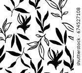 simple stylish seamless hand...   Shutterstock .eps vector #674527108