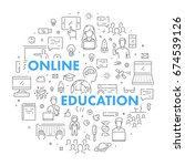 modern web line banner for... | Shutterstock .eps vector #674539126