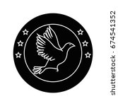 dove bird symbol | Shutterstock .eps vector #674541352