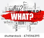 what    questions whose answers ... | Shutterstock .eps vector #674546395