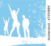 winter people | Shutterstock .eps vector #67454884