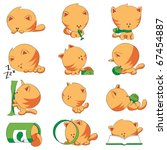 cute cat different positions | Shutterstock .eps vector #67454887