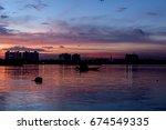 an  evening view from princep... | Shutterstock . vector #674549335