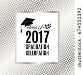 graduation 2017 class of... | Shutterstock .eps vector #674552392
