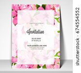 party invitation card template... | Shutterstock .eps vector #674554552